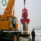 electric piling hammer, sheet piling equipment, piling equipment, piling machine, hallow pile hammer