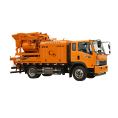 Truck Concrete Mixer Pump, truck mounted concrete mixing pump, movable concrete mixer pump