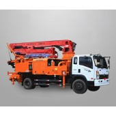 Truck Mounted Concrete Mixer Pump, Concrete mixer boom pump, truck concrete pump with mixer