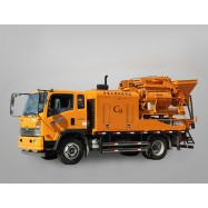 truck mounted concrete mixer pump, full-hydraulic concrete mixer pump, truck concrete mixing pump