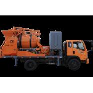 truck concrete mixer pump, upload of concrete mixer pump