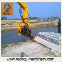 hydraulic pile driver, piling machine, excavator type pile hammer, piling equipment.
