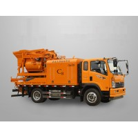 Truck Mounted Concrete Mixer Pump, movable concrete mixer pump, truck concrete pump with mixer