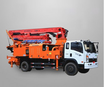 Truck Mounted Concrete Mixer Pump, Concrete mixer boom pump, truck concrete pump with mixer